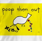Peace T Shirt Poop Them Out WHITE Poop Them Out T Shirt