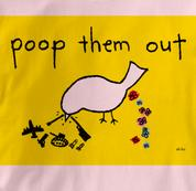 Peace T Shirt Poop Them Out PINK Poop Them Out T Shirt