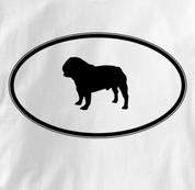 Pug T Shirt Oval Profile WHITE Dog T Shirt Oval Profile T Shirt