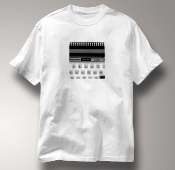 Radio Shack Computer T Shirt Vintage Logo TRS-80 WHITE Vintage Logo TRS-80 T Shirt Geek T Shirt