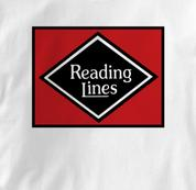 Reading Lines T Shirt Vintage WHITE Railroad T Shirt Train T Shirt Vintage T Shirt