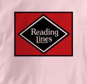Reading Lines T Shirt Vintage PINK Railroad T Shirt Train T Shirt Vintage T Shirt