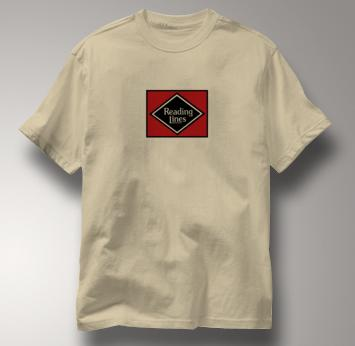 Reading Lines T Shirt Vintage TAN Railroad T Shirt Train T Shirt Vintage T Shirt