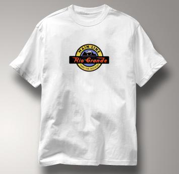 Rio Grande T Shirt Thru the Rockies Main Line WHITE Railroad T Shirt Train T Shirt Thru the Rockies Main Line T Shirt