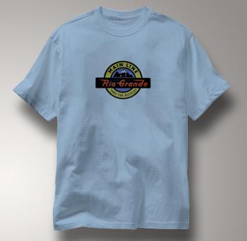 Rio Grande T Shirt Thru the Rockies Main Line BLUE Railroad T Shirt Train T Shirt Thru the Rockies Main Line T Shirt