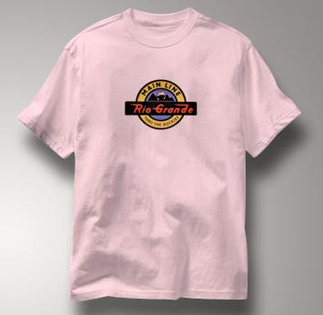 Rio Grande T Shirt Thru the Rockies Main Line PINK Railroad T Shirt Train T Shirt Thru the Rockies Main Line T Shirt
