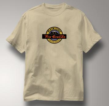 Rio Grande T Shirt Thru the Rockies Main Line TAN Railroad T Shirt Train T Shirt Thru the Rockies Main Line T Shirt