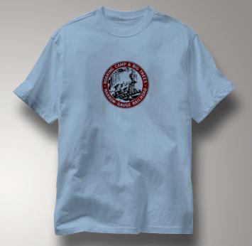 Roaring Camp T Shirt Narrow Gauge Big Trees BLUE Railroad T Shirt Train T Shirt Narrow Gauge Big Trees T Shirt