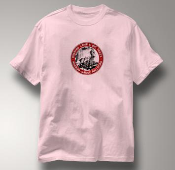 Roaring Camp T Shirt Narrow Gauge Big Trees PINK Railroad T Shirt Train T Shirt Narrow Gauge Big Trees T Shirt