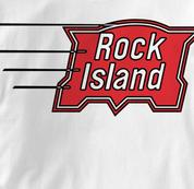 Rock Island T Shirt Vintage WHITE Railroad T Shirt Train T Shirt Vintage T Shirt