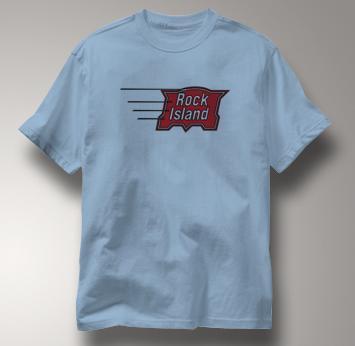 Rock Island T Shirt Vintage BLUE Railroad T Shirt Train T Shirt Vintage T Shirt