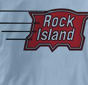 Rock Island T Shirt Vintage BLUE Railroad T Shirt Train T Shirt Vintage T Shirt