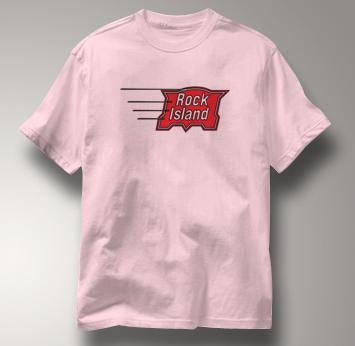 Rock Island T Shirt Vintage PINK Railroad T Shirt Train T Shirt Vintage T Shirt