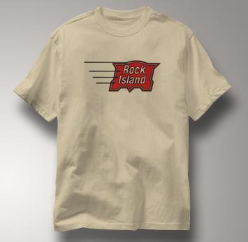 Rock Island T Shirt Vintage TAN Railroad T Shirt Train T Shirt Vintage T Shirt