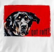 Rottweiler T Shirt Portrait WHITE Dog T Shirt Portrait T Shirt