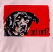 Rottweiler T Shirt Portrait PINK Dog T Shirt Portrait T Shirt