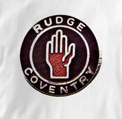 Rudge Motorcycle T Shirt Coventry Vintage Logo WHITE British Motorcycle T Shirt Coventry Vintage Logo T Shirt