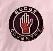 Rudge Motorcycle T Shirt Coventry Vintage Logo PINK British Motorcycle T Shirt Coventry Vintage Logo T Shirt