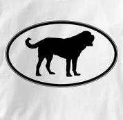 Saint Bernard T Shirt Oval Profile WHITE Dog T Shirt Oval Profile T Shirt
