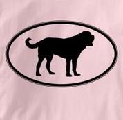 Saint Bernard T Shirt Oval Profile PINK Dog T Shirt Oval Profile T Shirt