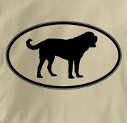 Saint Bernard T Shirt Oval Profile TAN Dog T Shirt Oval Profile T Shirt