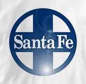 Santa Fe T Shirt Railway Logo WHITE Railroad T Shirt Train T Shirt Railway Logo T Shirt