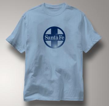 Santa Fe T Shirt Railway Logo BLUE Railroad T Shirt Train T Shirt Railway Logo T Shirt