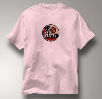 Santa Fe T Shirt El Capitan PINK Railroad T Shirt Train T Shirt El Capitan T Shirt