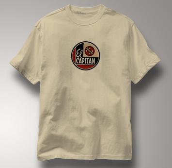 Santa Fe T Shirt El Capitan TAN Railroad T Shirt Train T Shirt El Capitan T Shirt