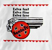 Santa Fe T Shirt Extra Fast WHITE Railroad T Shirt Train T Shirt Extra Fast T Shirt