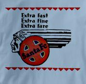 Santa Fe T Shirt Extra Fast BLUE Railroad T Shirt Train T Shirt Extra Fast T Shirt
