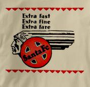 Santa Fe T Shirt Extra Fast TAN Railroad T Shirt Train T Shirt Extra Fast T Shirt