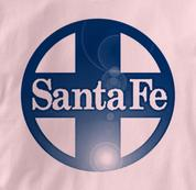 Santa Fe T Shirt Railway Logo PINK Railroad T Shirt Train T Shirt Railway Logo T Shirt