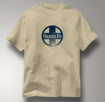 Santa Fe T Shirt Railway Logo TAN Railroad T Shirt Train T Shirt Railway Logo T Shirt