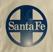 Santa Fe T Shirt Railway Logo TAN Railroad T Shirt Train T Shirt Railway Logo T Shirt