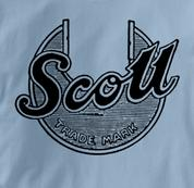 Scott Motorcycle T Shirt Vintage Logo BLUE British Motorcycle T Shirt Vintage Logo T Shirt