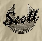 Scott Motorcycle T Shirt Vintage Logo TAN British Motorcycle T Shirt Vintage Logo T Shirt