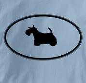 Scottish Terrier T Shirt Oval Profile BLUE Dog T Shirt Oval Profile T Shirt