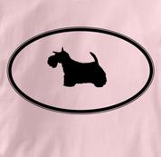 Scottish Terrier T Shirt Oval Profile PINK Dog T Shirt Oval Profile T Shirt