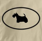 Scottish Terrier T Shirt Oval Profile TAN Dog T Shirt Oval Profile T Shirt