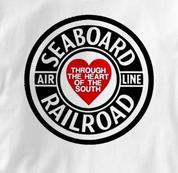 Seaboard Railroad T Shirt Air Line Heart of the South WHITE Train T Shirt Air Line Heart of the South T Shirt
