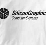 Silicon Graphics Computer T Shirt WHITE Geek T Shirt