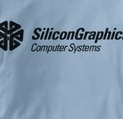 Silicon Graphics Computer T Shirt BLUE Geek T Shirt