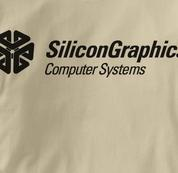 Silicon Graphics Computer T Shirt TAN Geek T Shirt