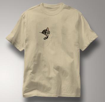 Chessie System T Shirt Sleeping Kitten TAN Railroad T Shirt Train T Shirt B&O Museum T Shirt Sleeping Kitten T Shirt