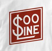 SOO Line T Shirt Railway Logo WHITE Railroad T Shirt Train T Shirt Railway Logo T Shirt