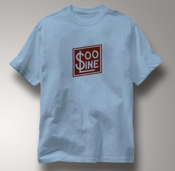 SOO Line T Shirt Railway Logo BLUE Railroad T Shirt Train T Shirt Railway Logo T Shirt