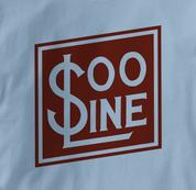 SOO Line T Shirt Railway Logo BLUE Railroad T Shirt Train T Shirt Railway Logo T Shirt