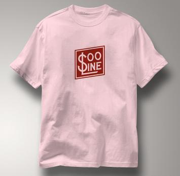 SOO Line T Shirt Railway Logo PINK Railroad T Shirt Train T Shirt Railway Logo T Shirt
