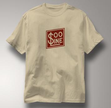 SOO Line T Shirt Railway Logo TAN Railroad T Shirt Train T Shirt Railway Logo T Shirt